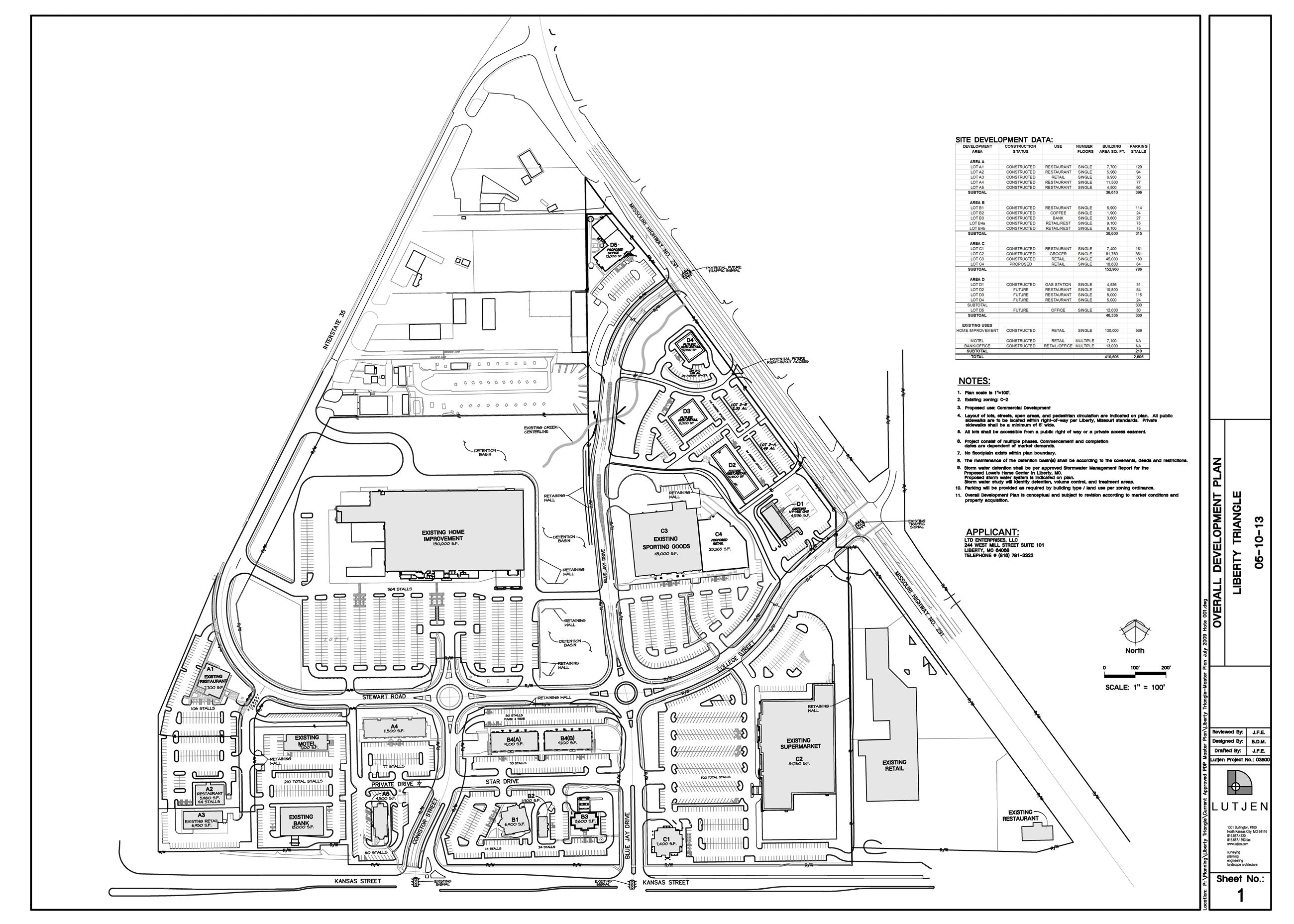 Triangle Site Plan