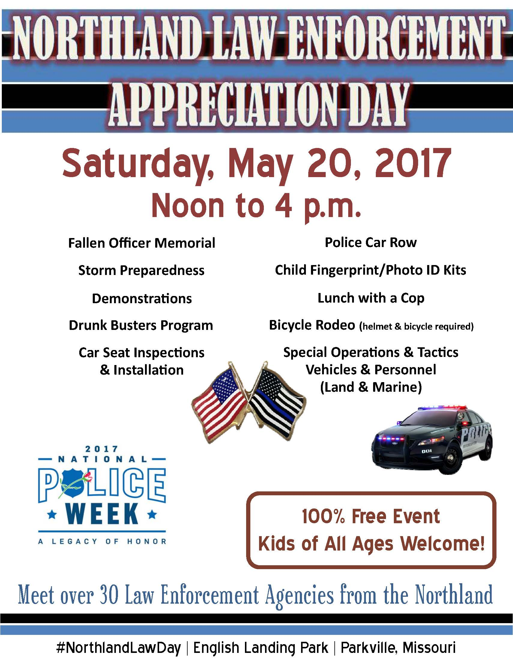 Law Enforcement Day Flyers Police Week Logo