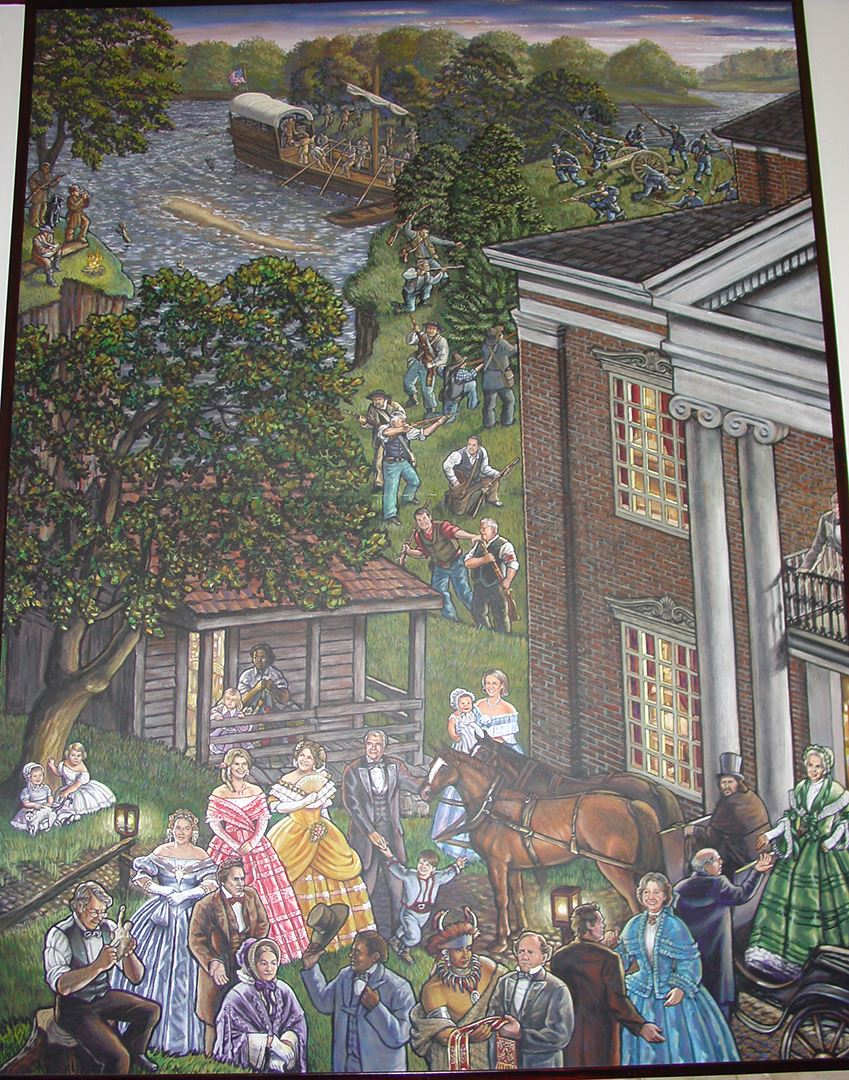 Clay County Administration Building Murals 4