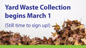 Yard waste collection begins March 1