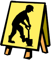 Public works guy sign